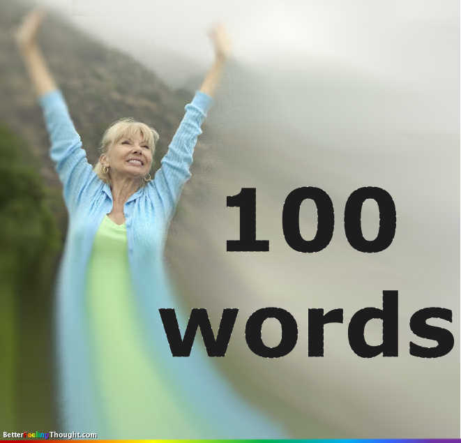 Don't be stingy! 100 words to praise yourself